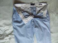 Mens lightweight slimline M&S Blue Harbour Chinos 36R