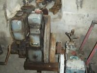 Vintage Stationary Engine with CAT Pump