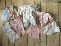 BABY GIRL CLOTHES- Up to 1 month. 50 items.