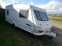 Reduced Elddis Cyclone GT 5 berth 1999 touring caravan with Awning