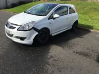 Vauxhall corsa limited edition spares or repair