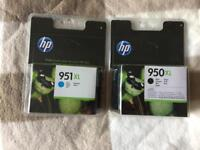 HP 950 XL Black & 951 Blue Print cartridge