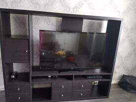 Tv not included-tv unit brown/black also have tv bracket to fit unit