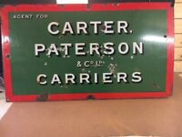 Vintage enamel sign railway