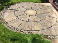 Circular paving stone Garden set