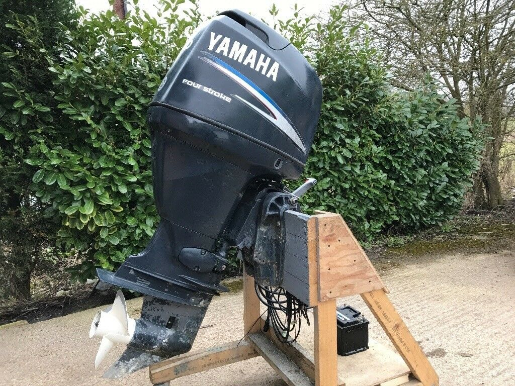 80HP Yamaha 4 stroke Outboard for Rib Boat 4 new carbs and control unit complete but not running