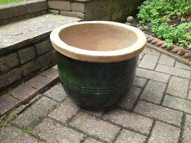 Medium sized Green Stone Planter.