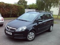 2006 MODEL NEW SHAPE VAUXHALL ZAFIRA 7 SEATER LOW MILES BLACK VERY CLEAN CAR QUIK SALE NEEDED