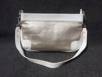 141555a15da2f Basler Handtasche Weiß-Silber Hochzeitstasche. Wunderbare Ledertasche ...