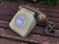 Vintage & Original GPO 746F Rotary Dial Telephone Delivery Available