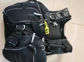 BCD scuba diving jacket ScubaPro T-black edition. Size L