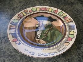 A Royal Doulton seriesware plate of The Doctor