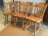 6 x Pine Farmhouse style chairs