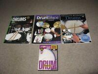 Drum Beginners Tutor Books x 3 plus 1 DVD