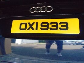 cherished number plate OXI933 asap sale car audi ford mercedes
