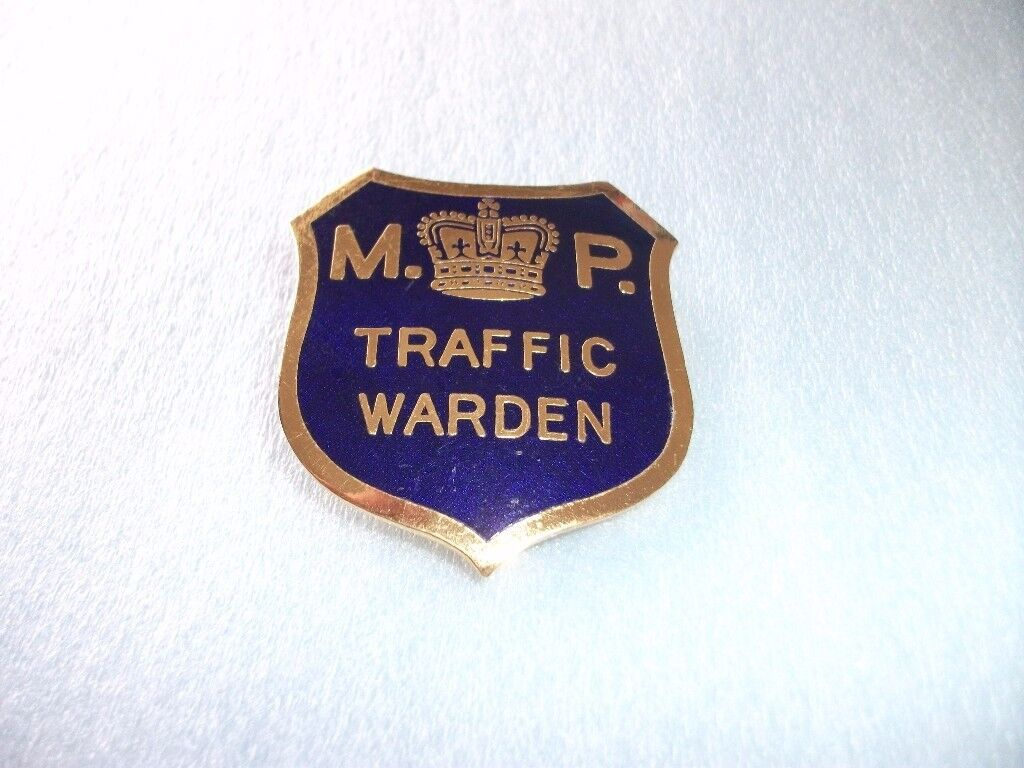 Military Police Traffic Wardens Badge, From 1950's - 60's. Good Condition