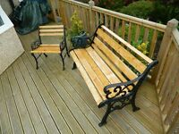 Garden bench and seat