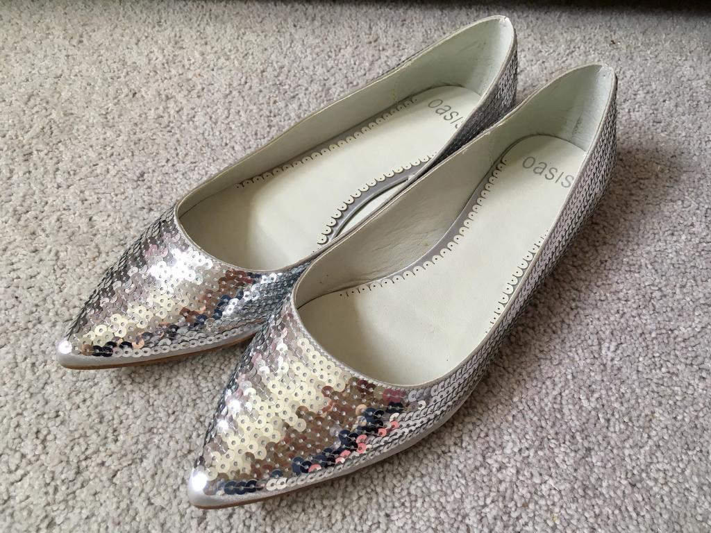 4631f1e1895f Oasis silver sequin shoes size 40 BNIB | in Chelmsford, Essex | Gumtree