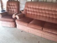 Parker Knoll suit. Sofa, chair & recliner chair