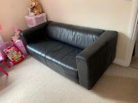 IKEA Leather Sofa.
