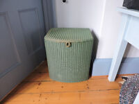 LLOYD LOOM CHAIR with matching linen basket