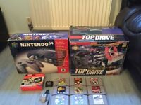 nintendo 64 top drive wheel 20 games