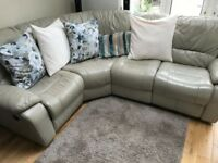 Leather Corner Sofa with Lazy Boy recliners