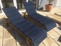 4x garden sun bed loungers patio