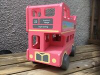 Wooden play bus