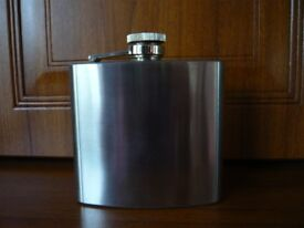 5oz Stainless Steel Hip Flask (Unused)