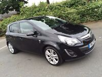 VAUXHALL CORSA D 2013 SXI 1.2 - 5 DOOR BLACK - VERY LOW MILEAGE ONLY 15K - FULL SERVICE HISTORY