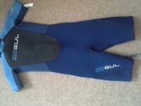 Children's gul short wetsuit and quest buoyancy aid