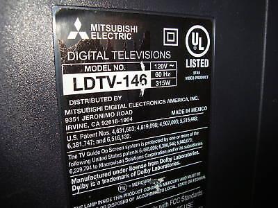 MITSUBISHI  LDTV-146  TV BASE PEDESTAL STAND FEETS