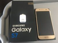 in mint condition Samsung galaxy s7 gold in colour on the 3 network a few months old boxed