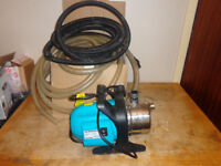 Irrigation water pump 900W with suction and discharge hoses