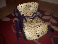 Booster seat changing bag
