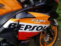 Honda CBR125 Motorbike for sale