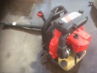 Back pack petrol leaf blower