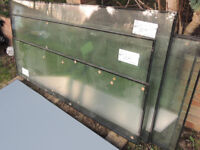 Commercial heavy duty windows glass x 3 left (Delivery possible)