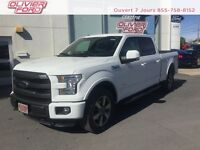 Ford F-150 lariat+cuir+nav+a/c+4x4+mags 2015