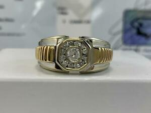 #315 14K Yellow & White Gold Mens Diamond Rolex Style Custom Ring *SIZE 10 1/2* APPRAISED AT $3150.00