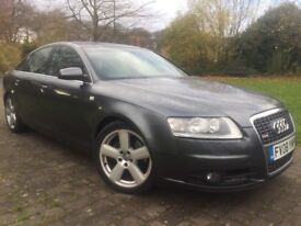 2008 Audi A6 2.0 Diesel S Line Automatic (CVT) 7G 18 Inch Alloy wheels Color screen Sat nav and Dvd