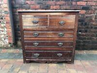 Victorian Pine Large Chest Of Drawers
