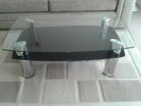 Heavy Glass Coffee Table.