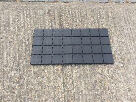 Outdoor Interlocking Plastic Floor Tiles - 55 tiles