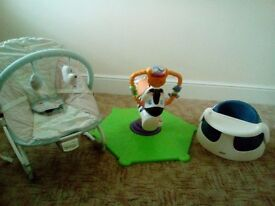 Zebra bouncer, vibrating bouncy chair and snug seat