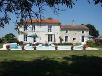 Farmhouse and cottage on west coast of France, views of the Gironde, 10 mins from beach