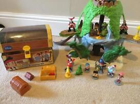Jake and the neverland pirates magical tiki hideout plus play figures
