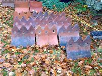 11 clay decorative ridge tiles