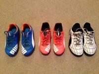 Kids Football Boots x 3
